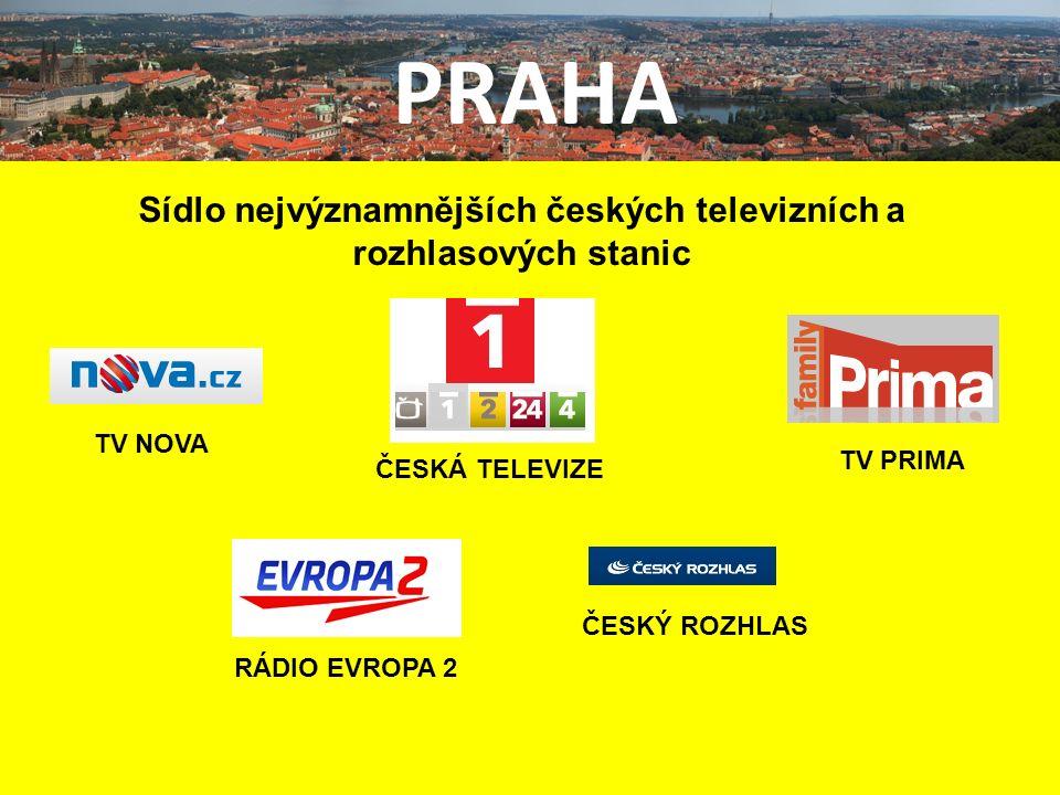 PRAHA Sídlo nejvýznamnějších českých televizních a rozhlasových stanic TV NOVA TV PRIMA RÁDIO EVROPA 2 ČESKÁ TELEVIZE ČESKÝ ROZHLAS