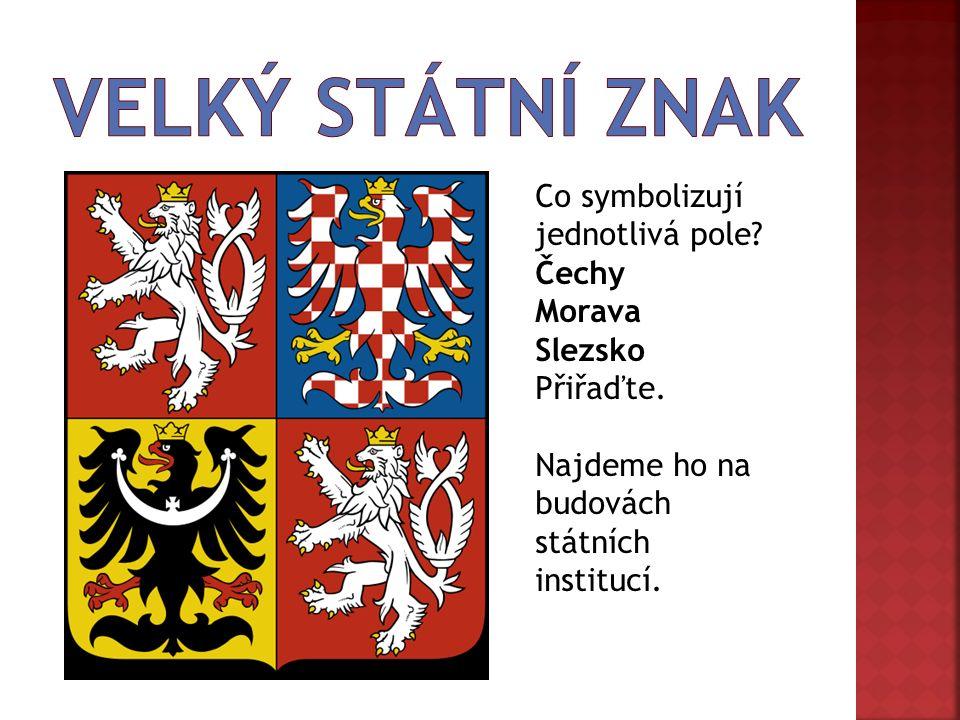 Co symbolizují jednotlivá pole. Čechy Morava Slezsko Přiřaďte.