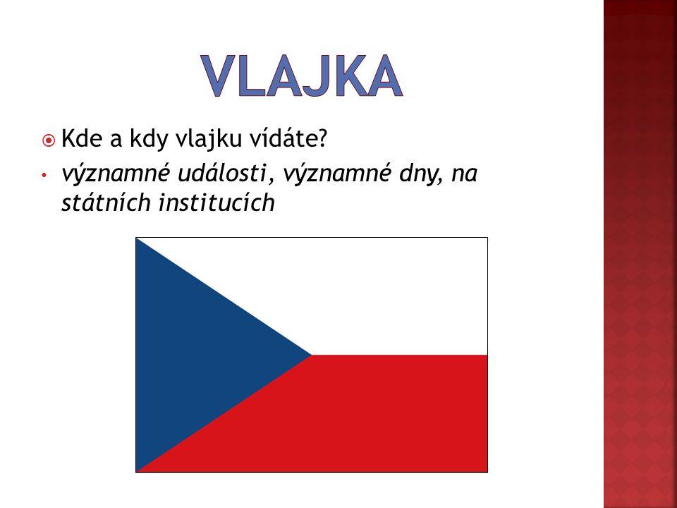  Kde a kdy vlajku vídáte významné události, významné dny, na státních institucích