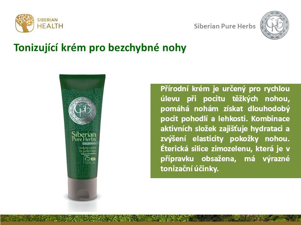 Siberian Pure Herbs Tonizující krém pro bezchybné nohy Přírodní krém je určený pro rychlou úlevu při pocitu těžkých nohou, pomáhá nohám získat dlouhodobý pocit pohodlí a lehkosti.