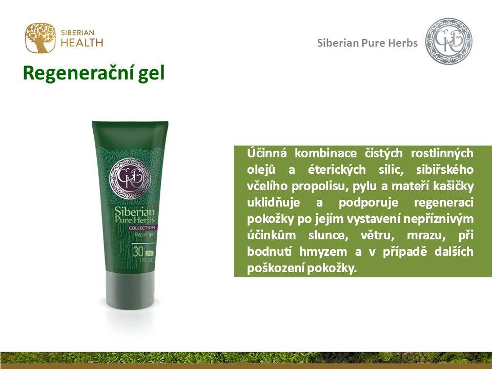 Siberian Pure Herbs Regenerační gel Účinná kombinace čistých rostlinných olejů a éterických silic, sibiřského včelího propolisu, pylu a mateří kašičky