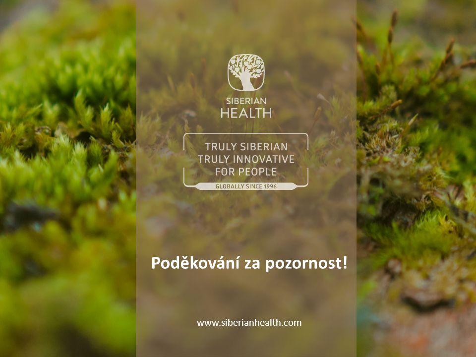 Poděkování za pozornost! www.siberianhealth.com