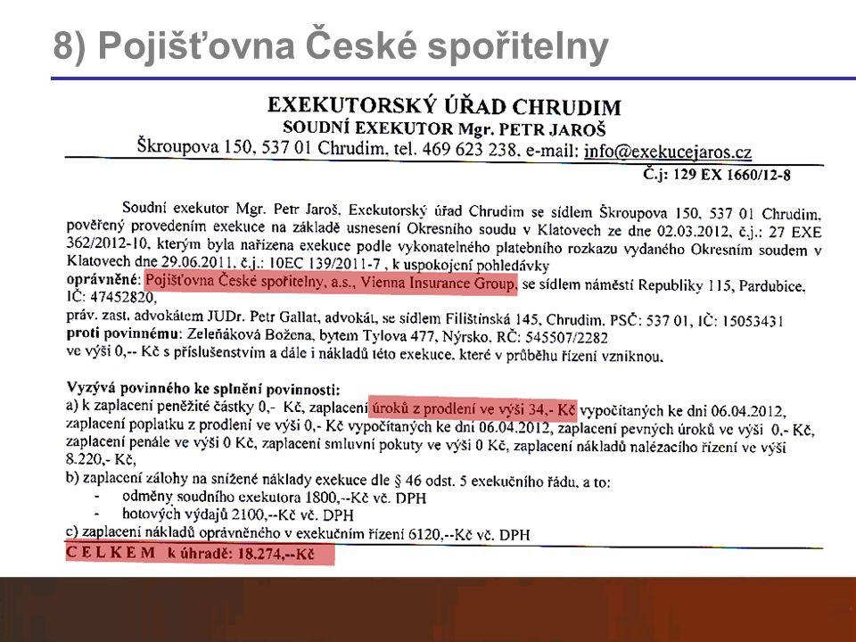 8) Pojišťovna České spořitelny