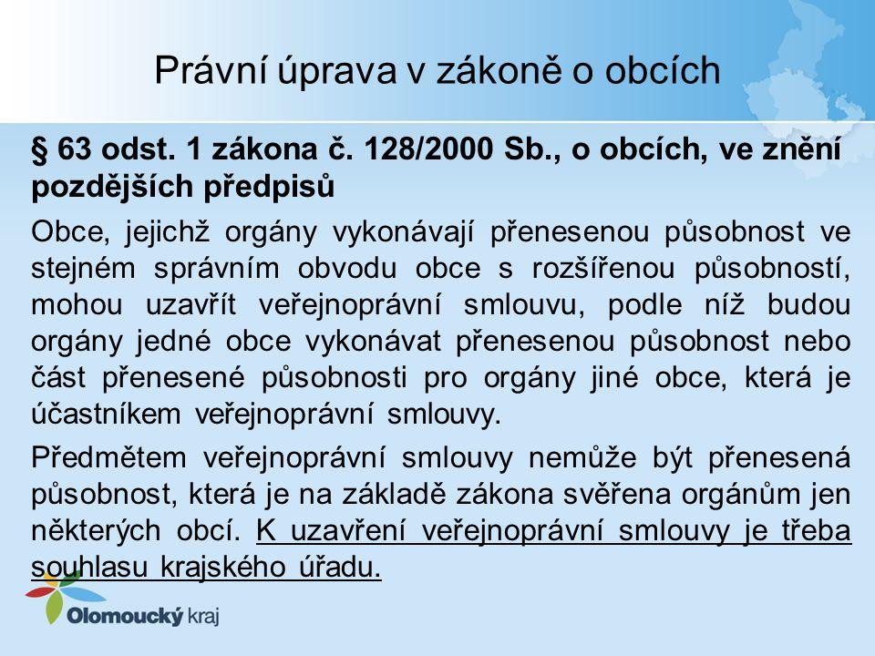 Právní úprava v zákoně o obcích § 63 odst. 1 zákona č.