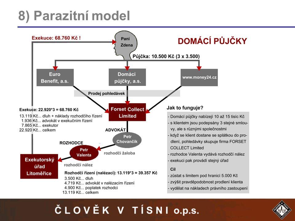 8) Parazitní model