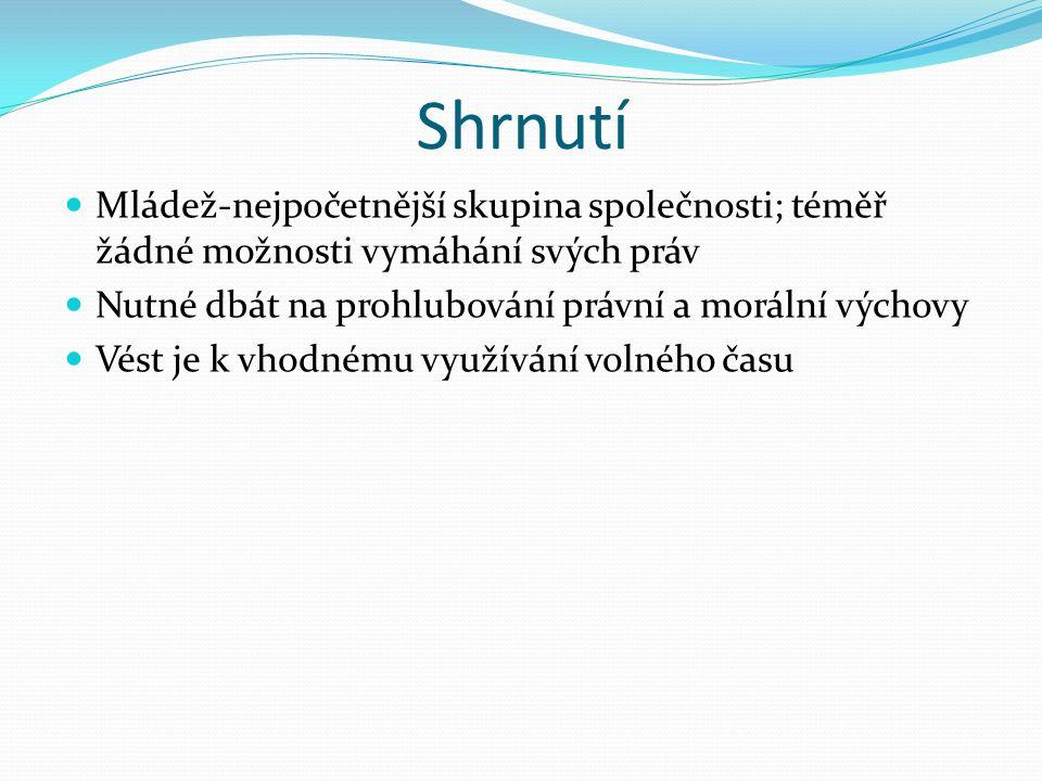 Informační zdroje: Základy práva – JUDr.Jaroslava Tomanová a spol.