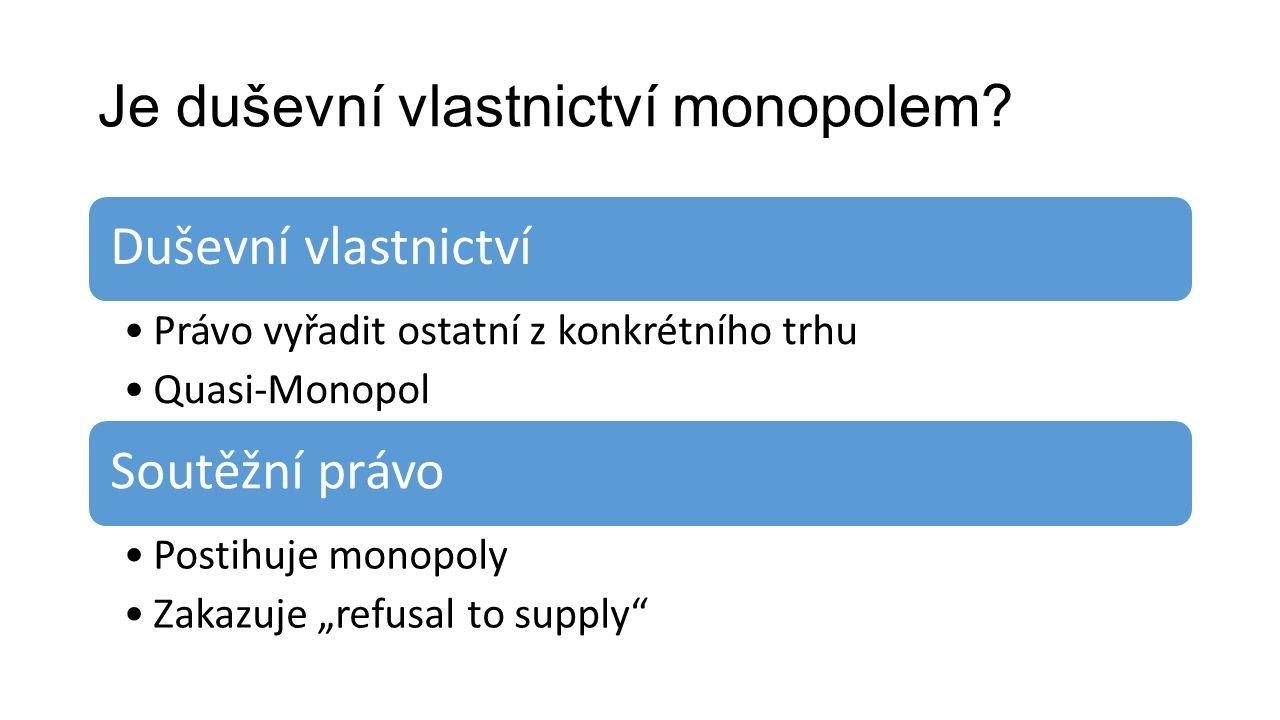 Je duševní vlastnictví monopolem.
