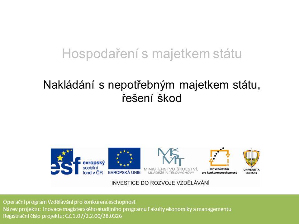 Úkoly pro samostatnou práci: Prostudovat RMO č.47/2013, RMO č.