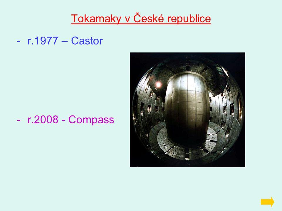 Tokamaky v České republice -r.1977 – Castor -r.2008 - Compass