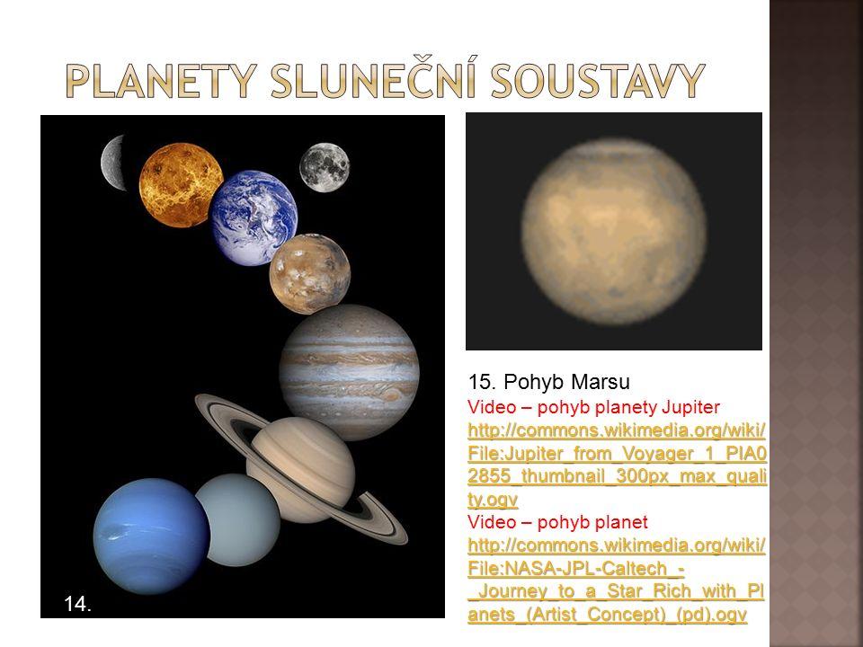 13. Vyjmenujte planety Sluneční soustavy.