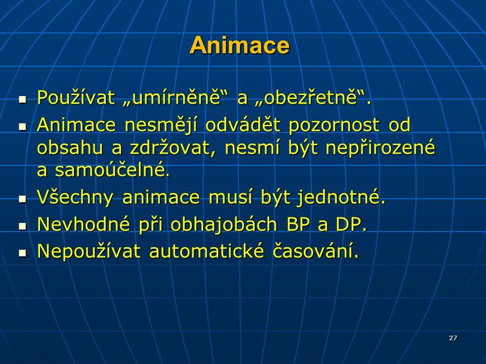 """Animace Používat """"umírněně a """"obezřetně . Používat """"umírněně a """"obezřetně ."""