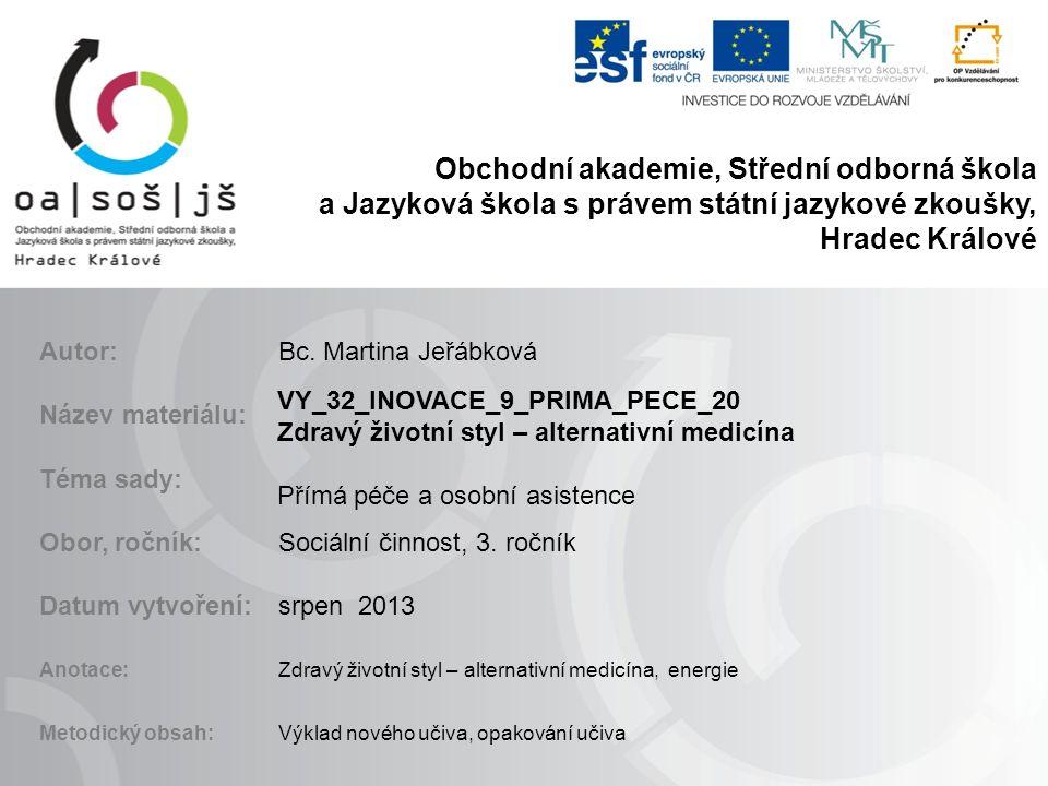 Obchodní akademie, Střední odborná škola a Jazyková škola s právem státní jazykové zkoušky, Hradec Králové Autor:Bc.