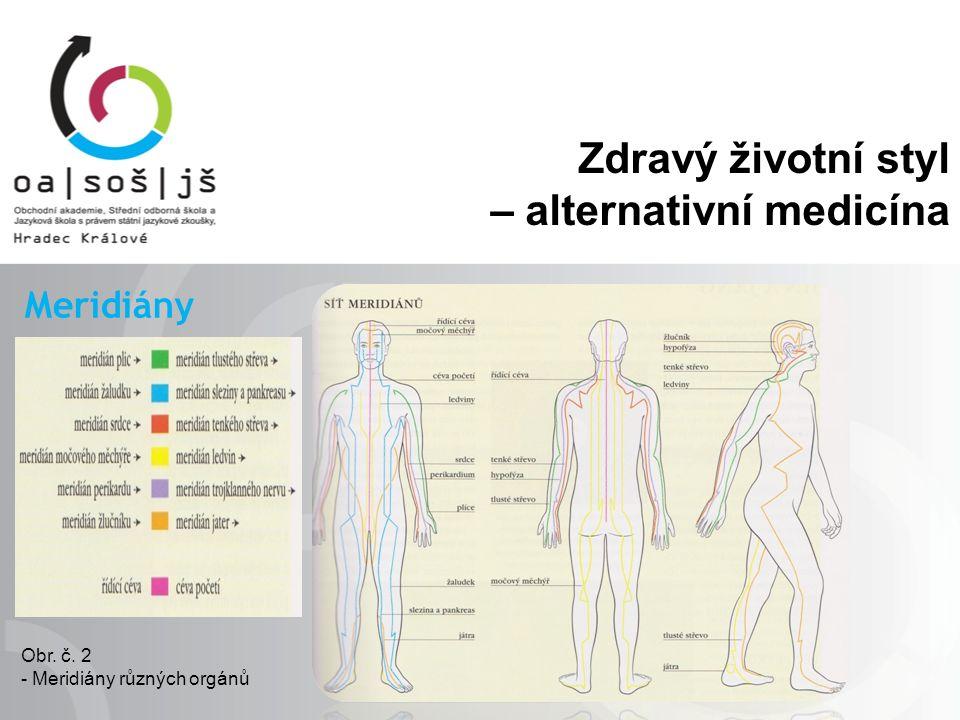 Zdravý životní styl – alternativní medicína Meridiány Obr. č. 2 - Meridiány různých orgánů