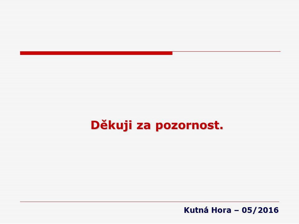 Kutná Hora – 05/2016 Děkuji za pozornost.