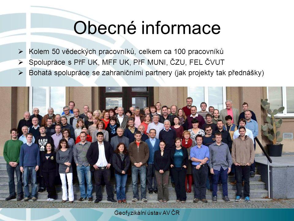 DEPARTMENT of GEOMAGNETISM Děkujeme za pozornost Geofyzikální ústav AV ČR