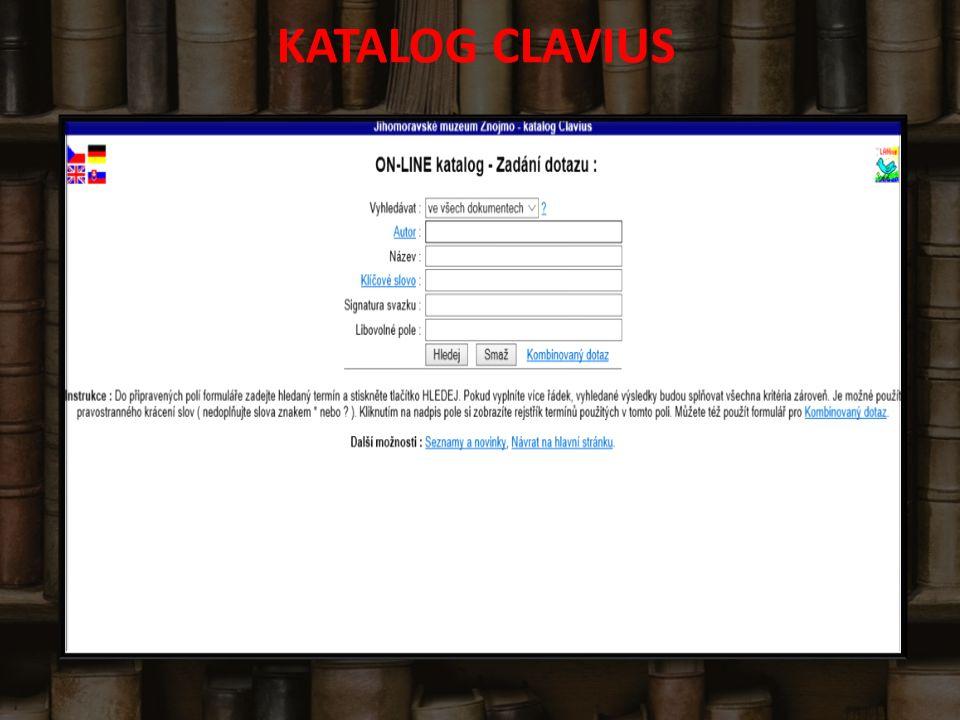 KATALOG CLAVIUS