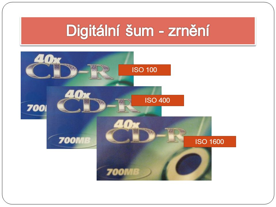 ISO 100 ISO 400 ISO 1600