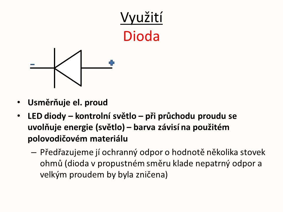 Využití Dioda Usměrňuje el.