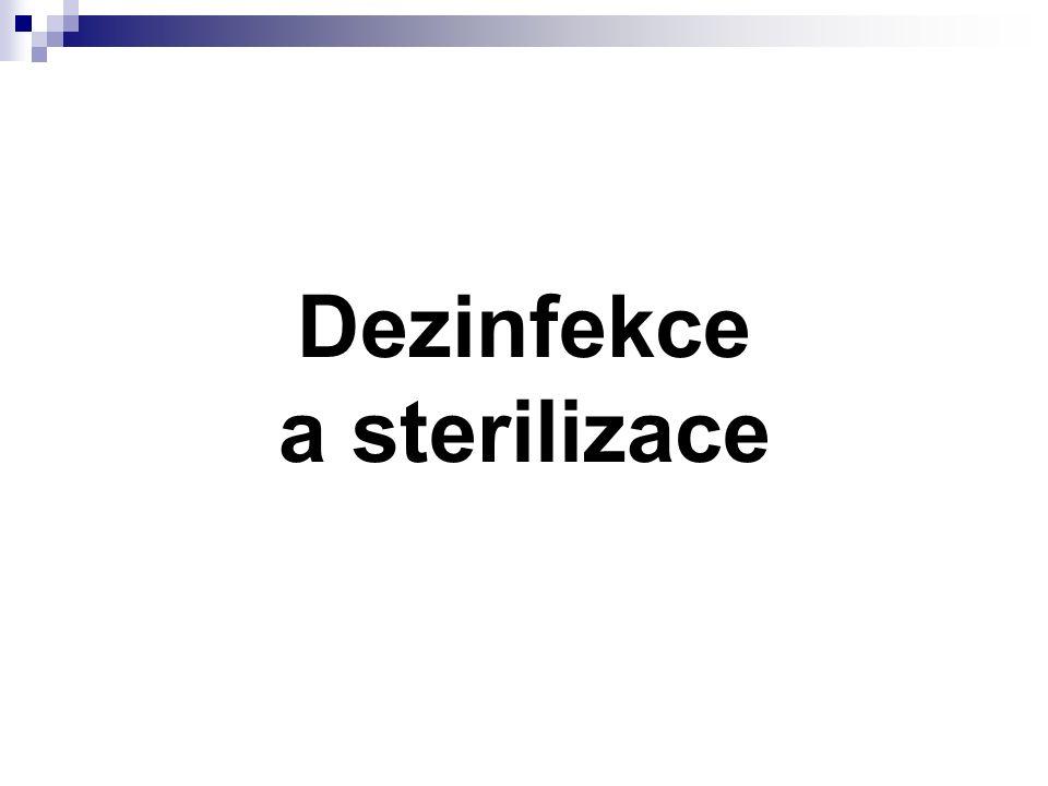 Mikroby a vnější vlivy U dekontaminačních metod je bezpodmínečně nutné dosáhnout takových hodnost působícího fyzikálního či chemického faktoru, aby došlo k usmrcení mikroba.