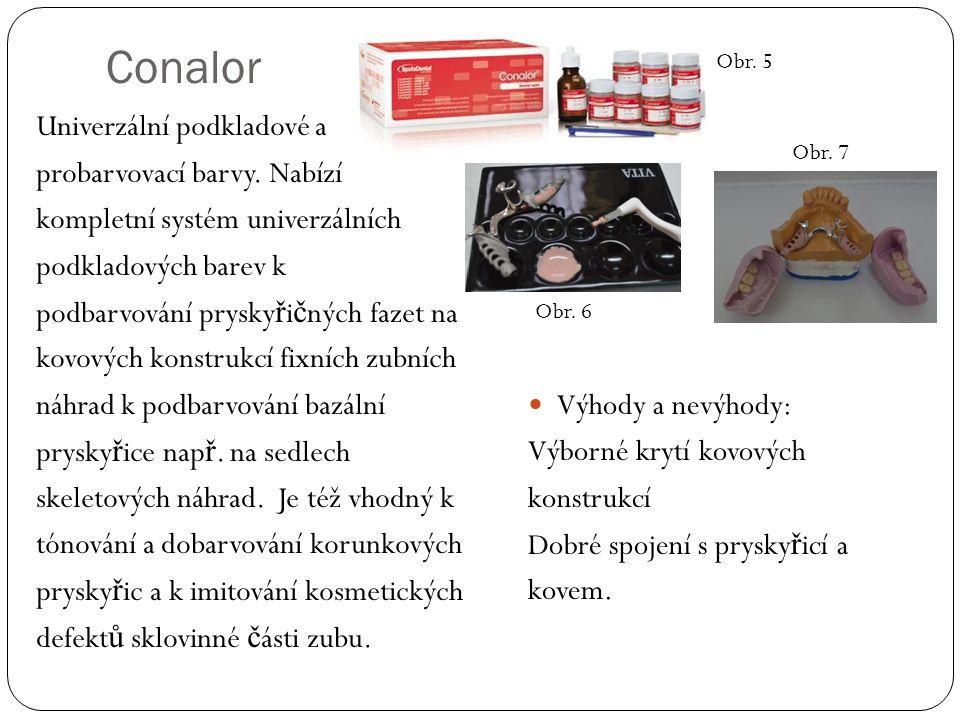 Conalor Univerzální podkladové a probarvovací barvy.