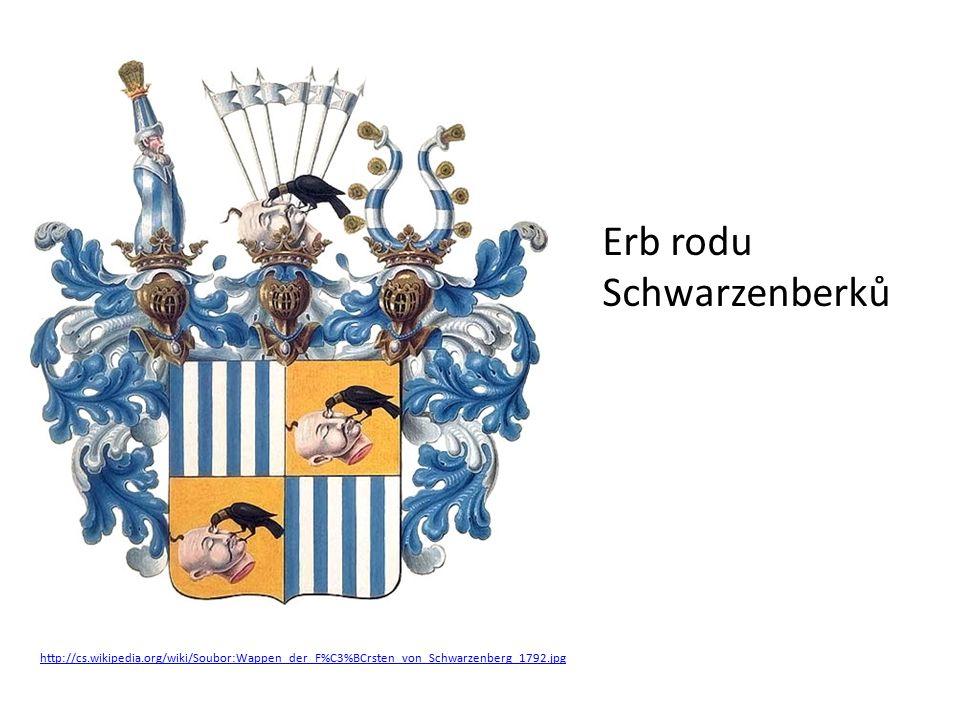 http://cs.wikipedia.org/wiki/Soubor:Wappen_der_F%C3%BCrsten_von_Schwarzenberg_1792.jpg Erb rodu Schwarzenberků