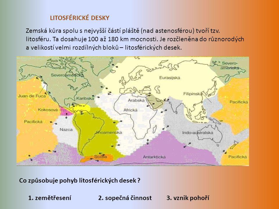 Zemská kůra spolu s nejvyšší částí pláště (nad astenosférou) tvoří tzv.