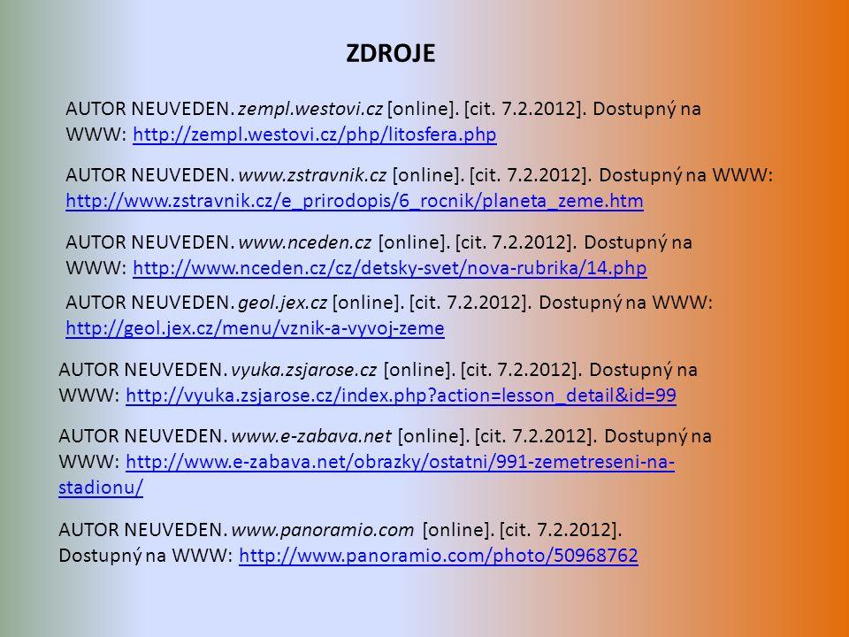 AUTOR NEUVEDEN. zempl.westovi.cz [online]. [cit.