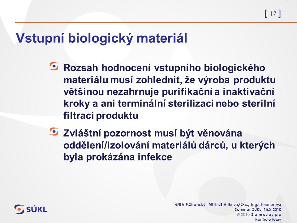 [ 17 ] RNDr. P.Stránský, MUDr. E. Vítková,CSc., Ing.I.Haunerová Seminář SÚKL, 1 6.