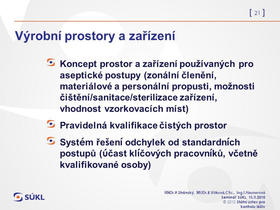 [ 21 ] RNDr. P.Stránský, MUDr. E. Vítková,CSc., Ing.I.Haunerová Seminář SÚKL, 1 6.