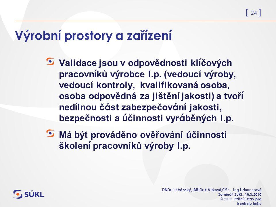 [ 24 ] RNDr. P.Stránský, MUDr. E. Vítková,CSc., Ing.I.Haunerová Seminář SÚKL, 1 6.