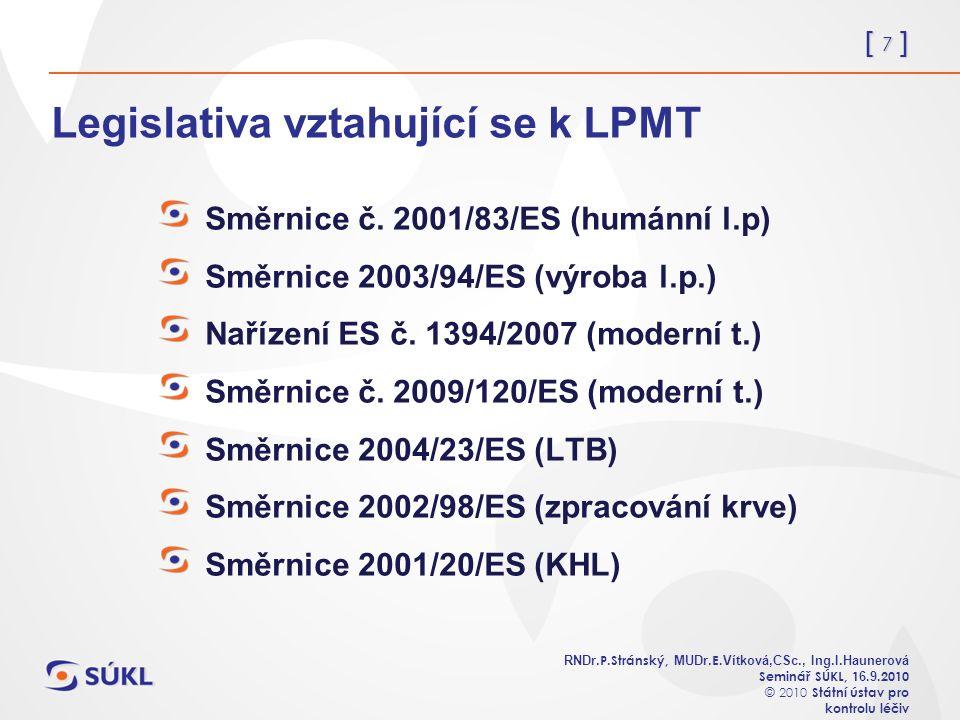 [ 7 ] RNDr. P.Stránský, MUDr. E. Vítková,CSc., Ing.I.Haunerová Seminář SÚKL, 1 6.