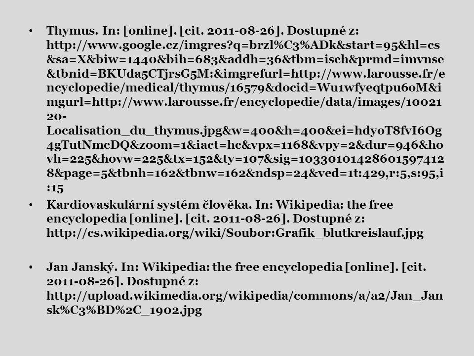 Thymus. In: [online]. [cit. 2011-08-26].