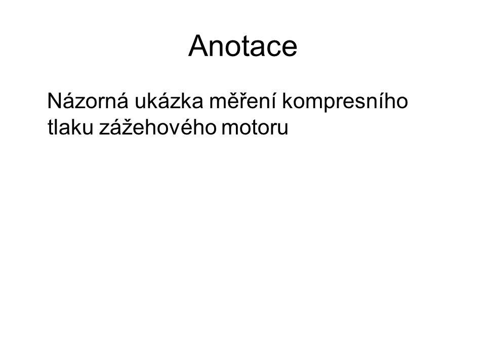 DUM Měření kompresního tlaku zážehového motoru Škoda Felicia 1.3