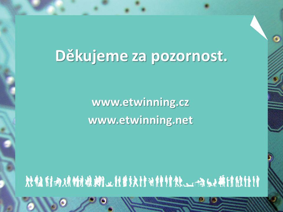 Děkujeme za pozornost. www.etwinning.czwww.etwinning.net
