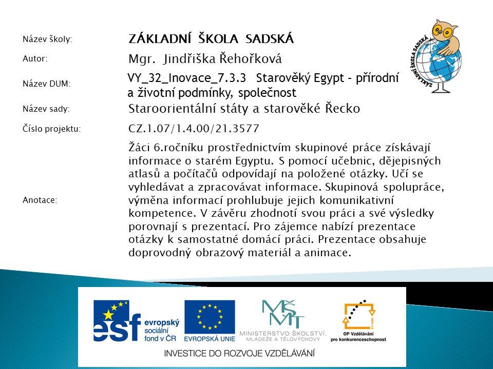 Použité zdroje BEDNAŘÍKOVÁ, Jarmila; KYSUČAN, Lubor; FEJFUŠOVÁ, Marie.