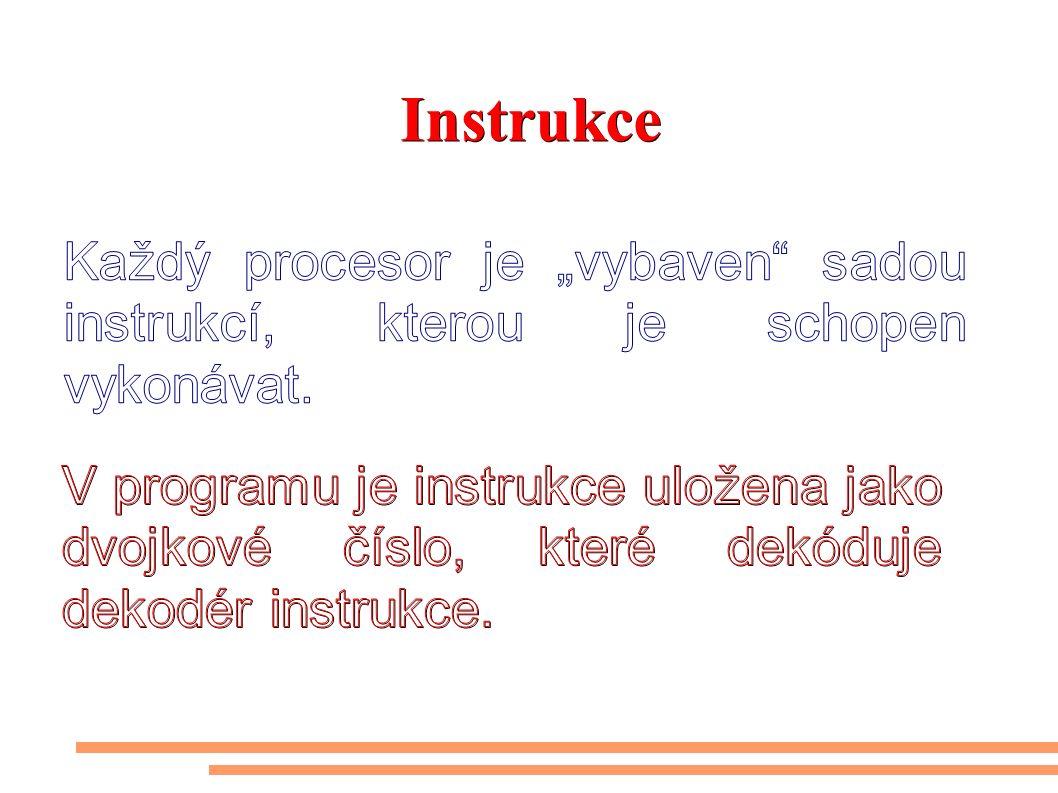 Typy instrukcí používaných v počítačích