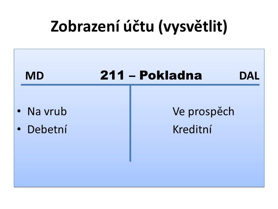 ZÁSADY ÚČTOVÁNÍ NA ÚČTECH: 1) každá hospodářská operace vyvolá změnu minimálně na 2 účtech 2) změna je vyvolána ve stejné výši 3) na opačných stranách účtů = PODVOJNÝ ZÁPIS 4) SOUVZTAŽNÉ ÚČTY jsou účty, který se týká hospodářská operace