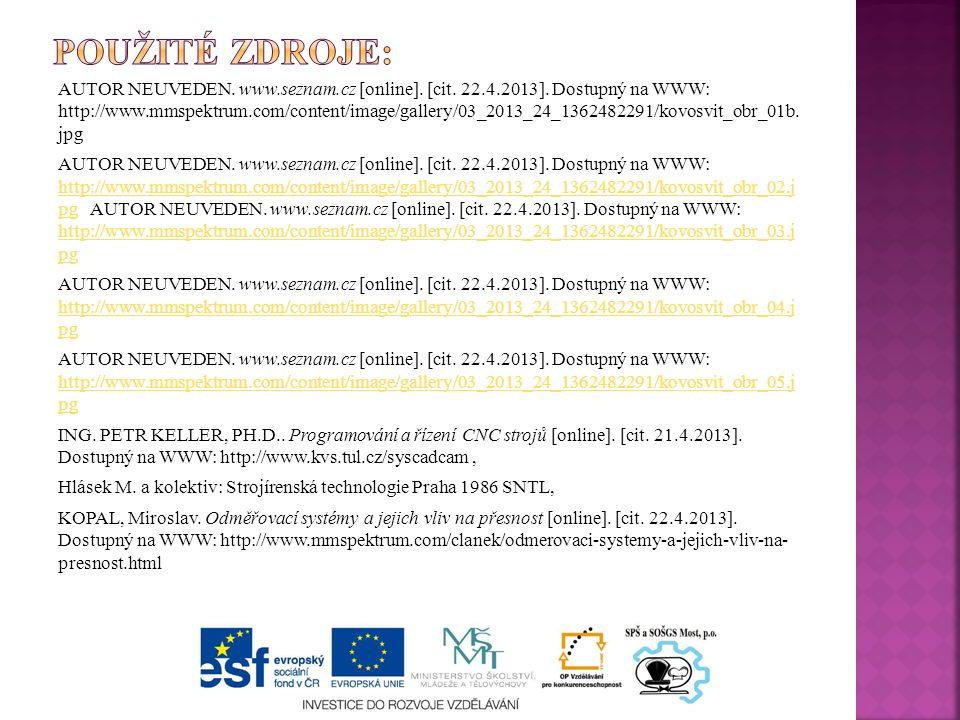 AUTOR NEUVEDEN.www.seznam.cz [online]. [cit. 22.4.2013].