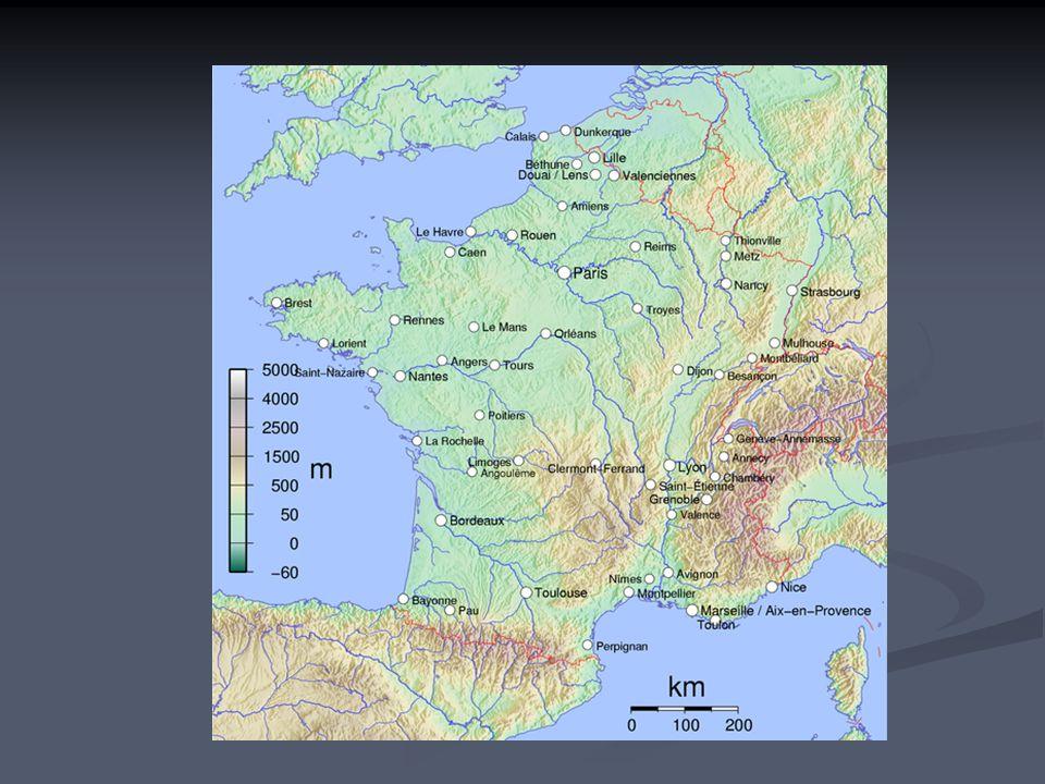 Mont Blanc Největší stát západní Evropy.Na většině území velké nížiny a pahorkatiny.