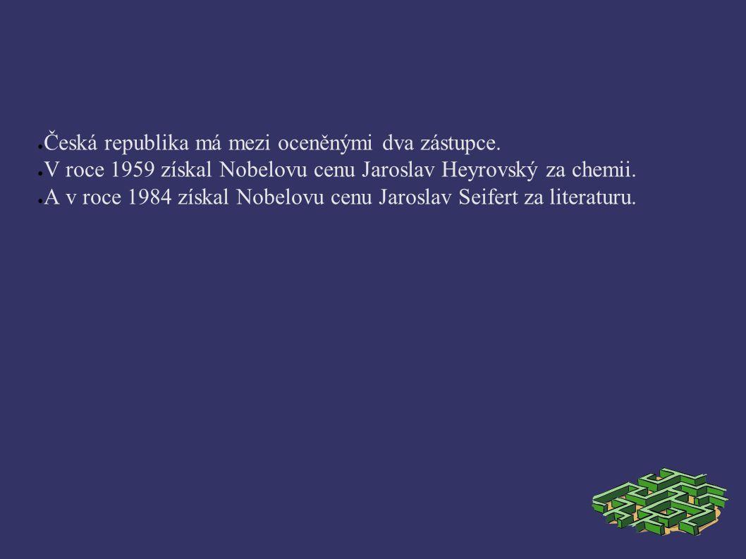 ● Česká republika má mezi oceněnými dva zástupce.