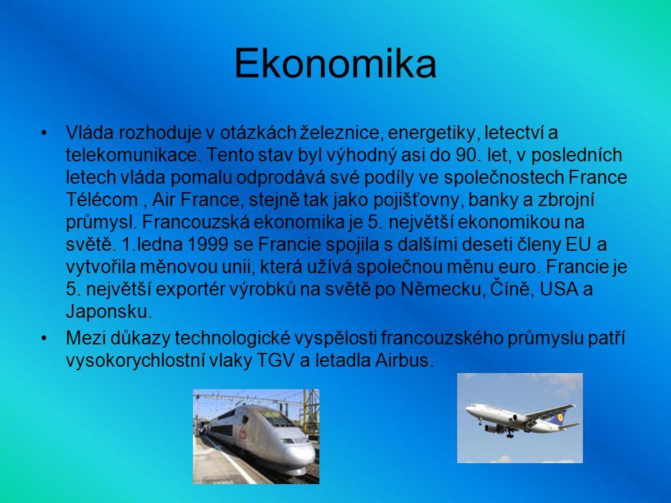 Ekonomika Vláda rozhoduje v otázkách železnice, energetiky, letectví a telekomunikace.