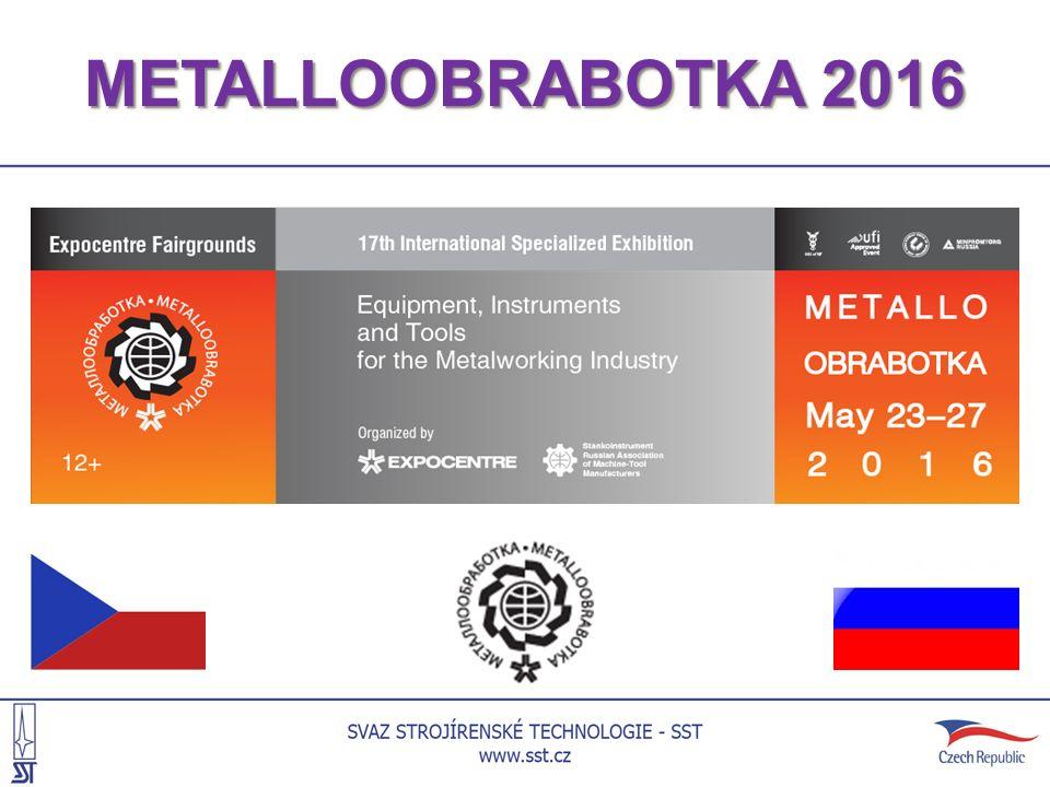 INFORMACE O VELETRHU Veletrh METALLOOBRABOTKA 2016 byl uspořádán na ploše 38 519 m 2 a zúčastnilo se ho 981 vystavovatelů z 32 zemí světa.