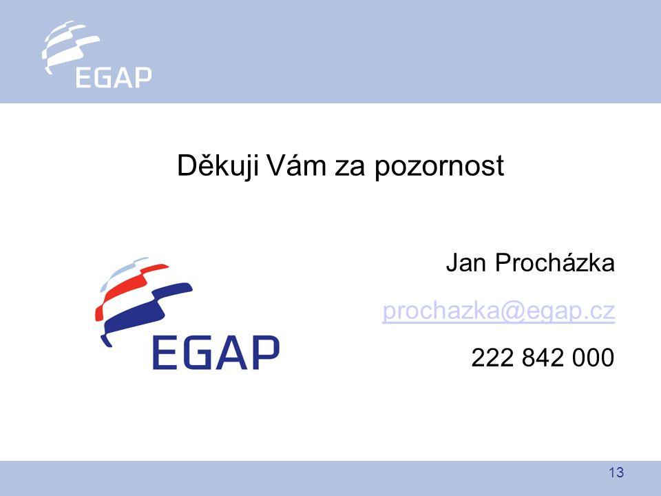 13 Děkuji Vám za pozornost Jan Procházka prochazka@egap.cz 222 842 000