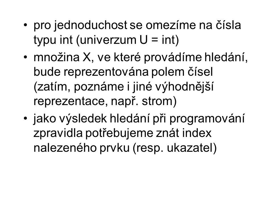 Mergesort // slučuji, s je pomocne pole s = (int*)malloc(sizeof(int)*(r-l+1)); i = l; j = q+1; k = 0; while(i<=q && j <= r) { if (pole[i]<pole[j]) s[k++] = pole[i++]; else s[k++] = pole[j++]; } // kopirovani zbytku poli - probehne jen jeden z cyklu while (i<=q) s[k++] = pole[i++]; while (j<=r) s[k++] = pole[j++]; // kopirovani pole s zpet do casti pole od indexu l for(i=0;i<k;i++) pole[l++] = s[i]; free(s); }