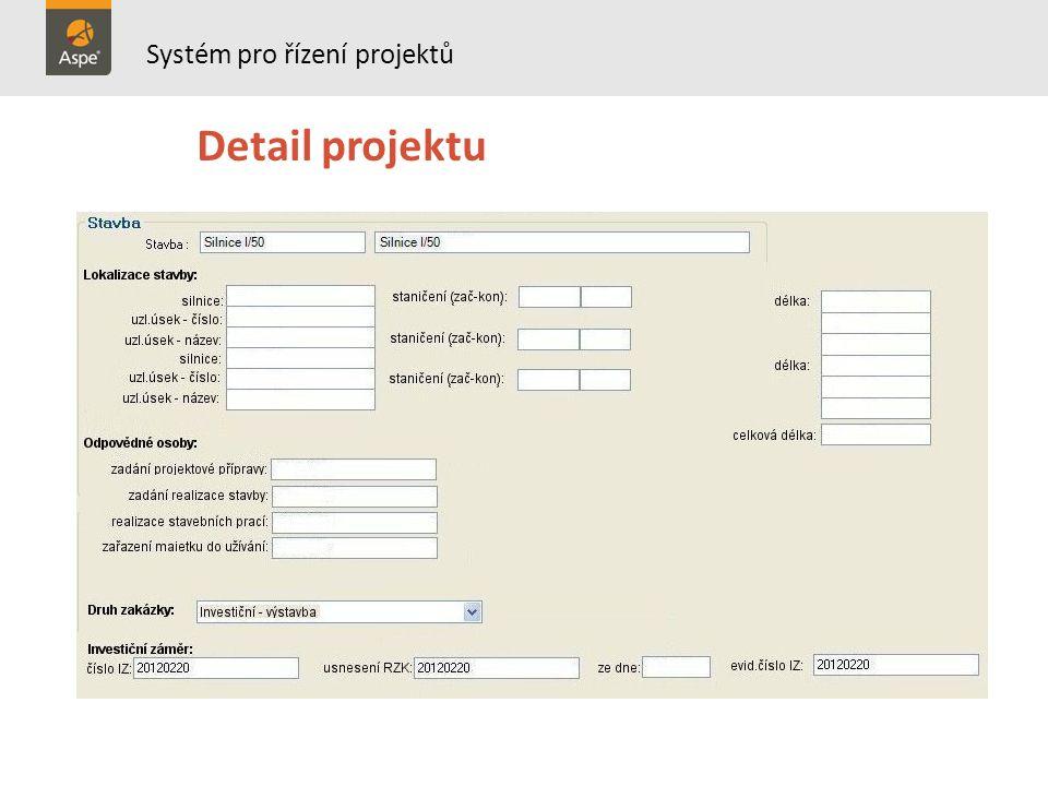Výběrové řízení Kontrola správnosti Parametry porovnání nabídek Multikriteriální hodnocení Systém pro řízení projektů DSZ DÚR DS ZBV RS DVZ DSP