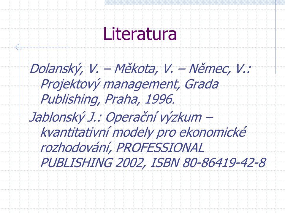 Literatura Dolanský, V. – Měkota, V.