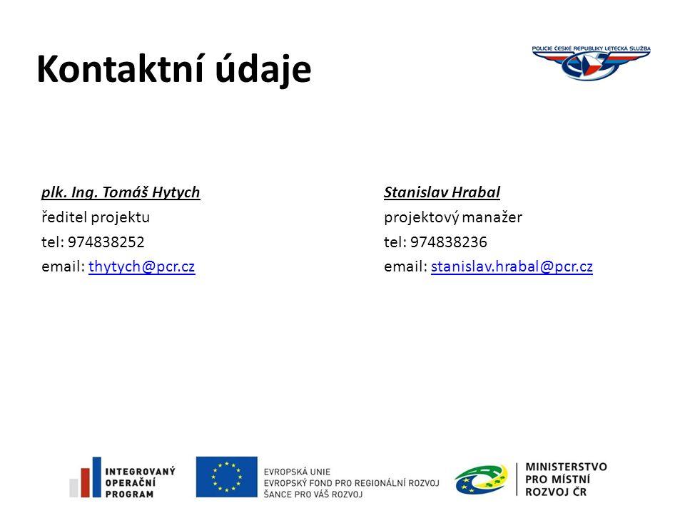 Kontaktní údaje plk. Ing.