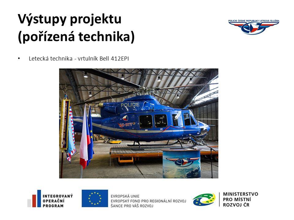 Výstupy projektu (pořízená technika) Letecká technika - vrtulník Bell 412EPI