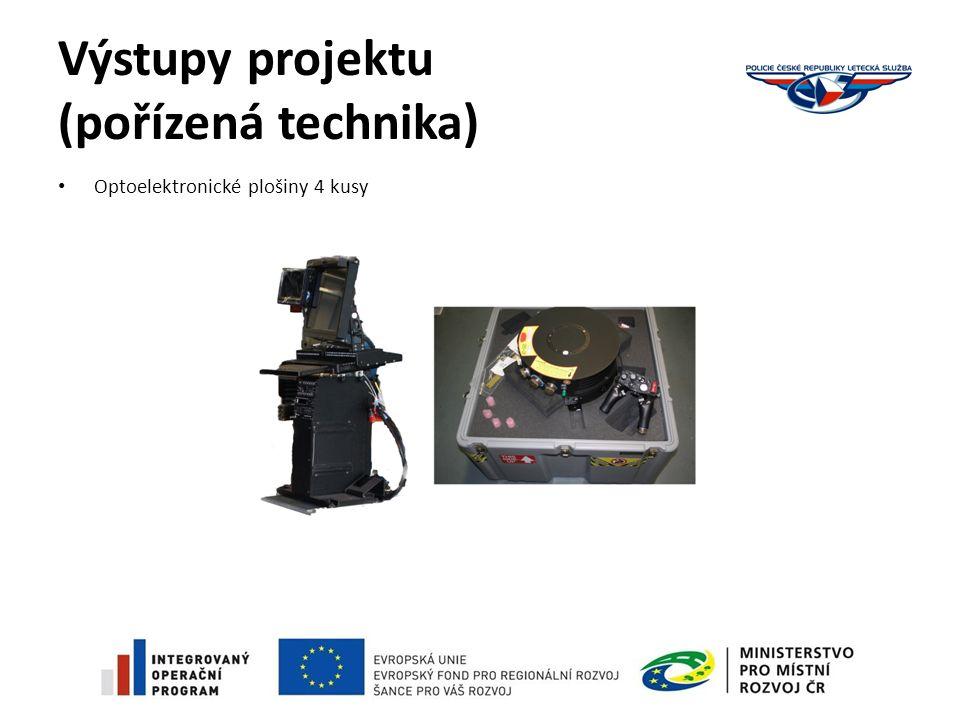 Výstupy projektu (pořízená technika) Optoelektronické plošiny 4 kusy