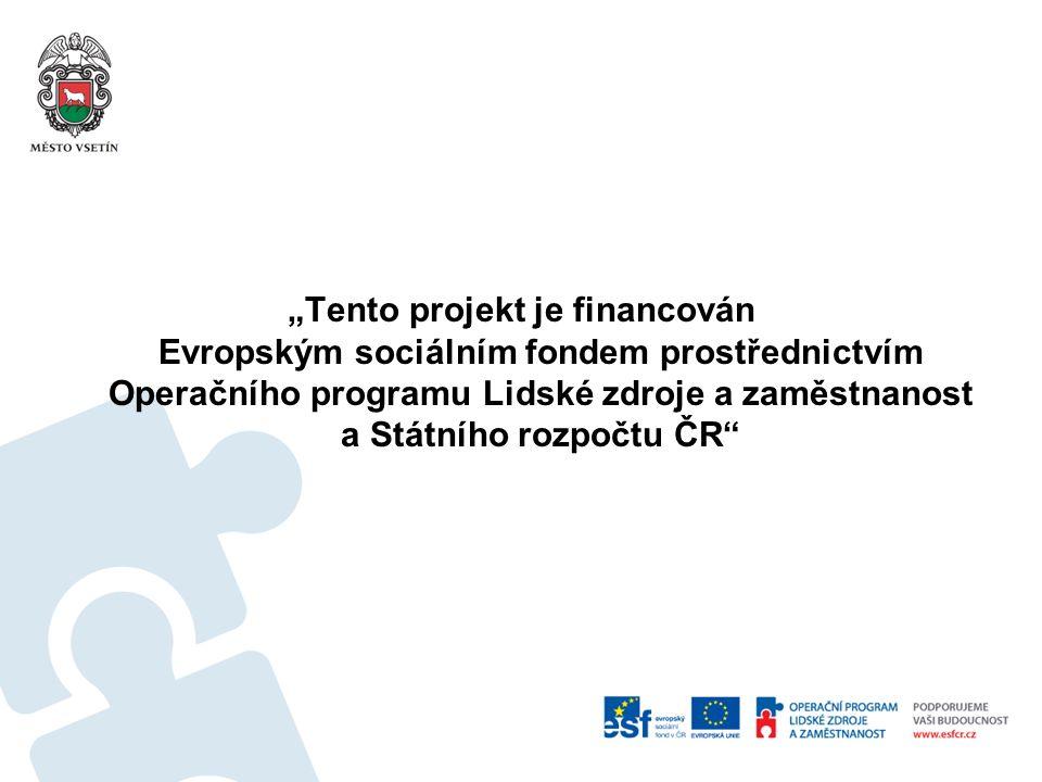 """""""Tento projekt je financován Evropským sociálním fondem prostřednictvím Operačního programu Lidské zdroje a zaměstnanost a Státního rozpočtu ČR"""""""